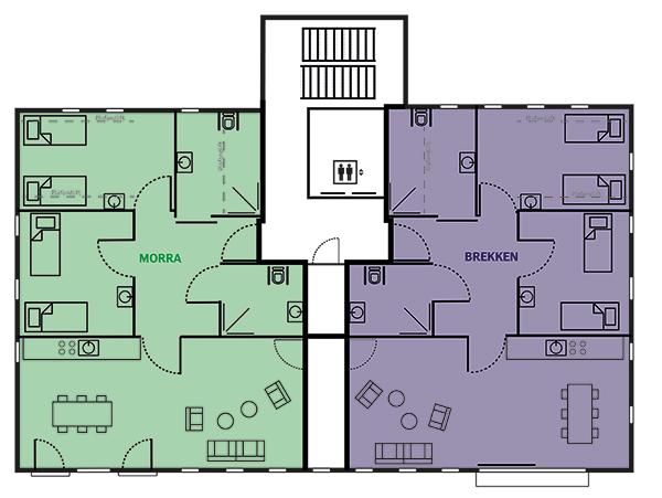 Plattegrond It Sailhûs - 1e verdieping