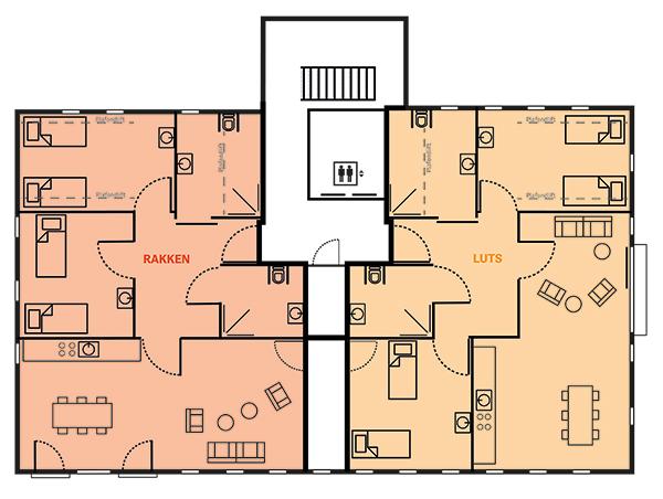 Plattegrond It Sailhûs - 2e verdieping