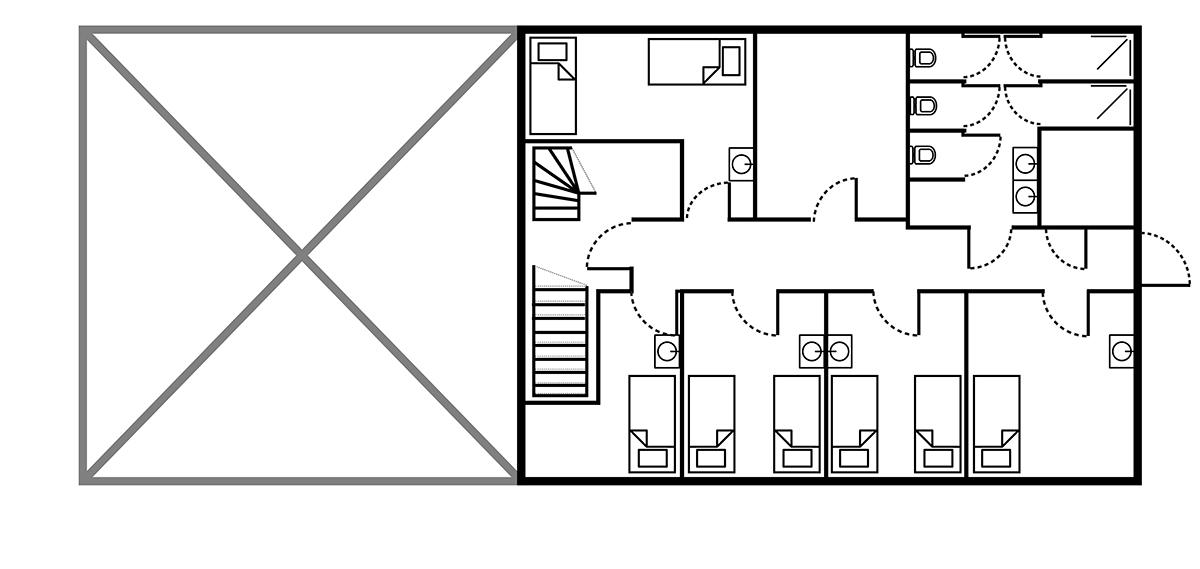 It Sailhûs groepsaccommodatie Friesland - eerste verdieping